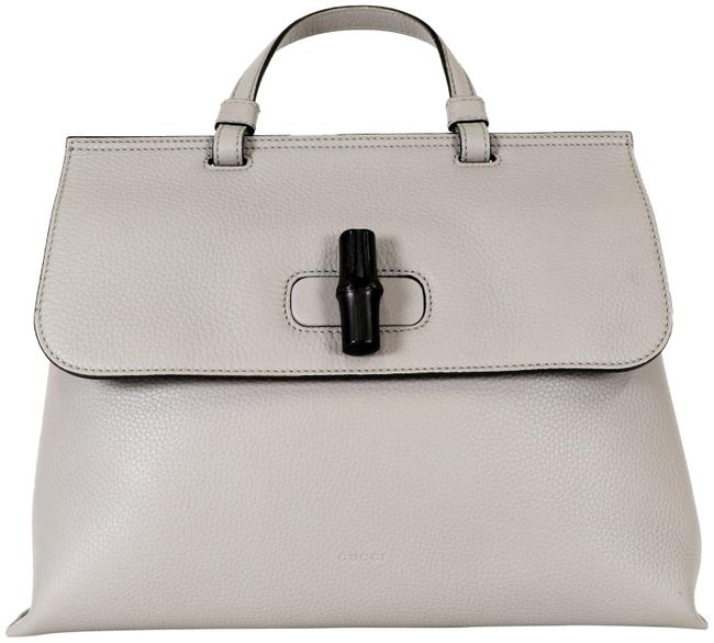 Item - Bamboo Daily Top Handle Grey Leather Cross Body Bag
