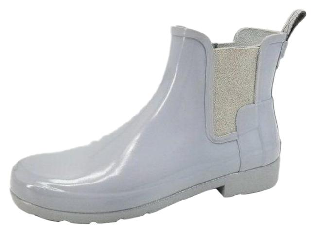 Item - Gray Refined Gloss Slim Fit Chelsea Boots/Booties Size US 9 Regular (M, B)