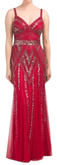 Item - Red Pink Long Cocktail Dress Size 8 (M)