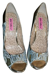 Betsey Johnson silver, multi Platforms