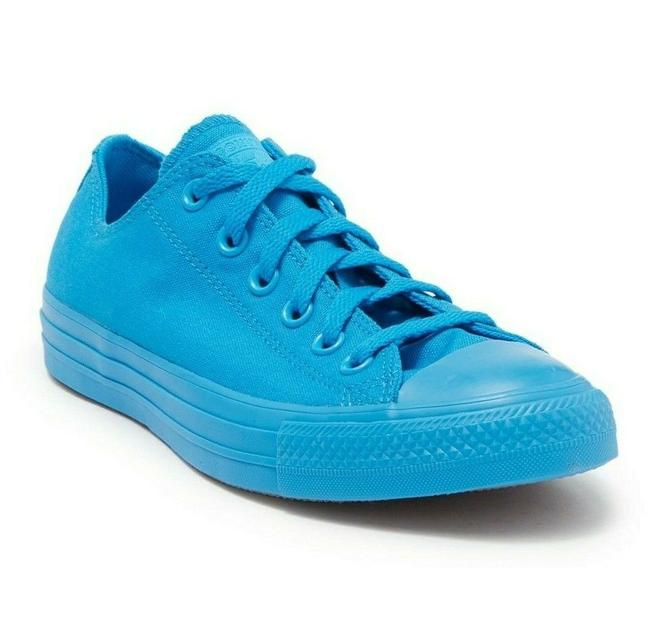 Item - Spray Paint Blue All Star Chuck Taylor Lace Up Ox Sneakers Size US 7 Regular (M, B)