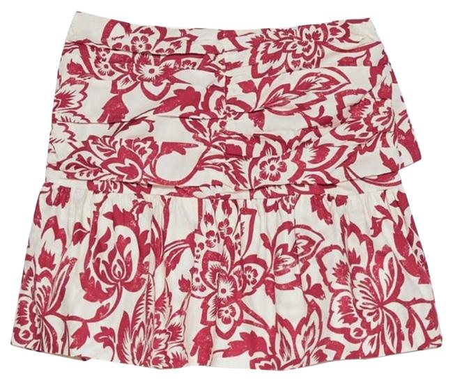 Item - Red/White Printed Skirt Size 4 (S, 27)
