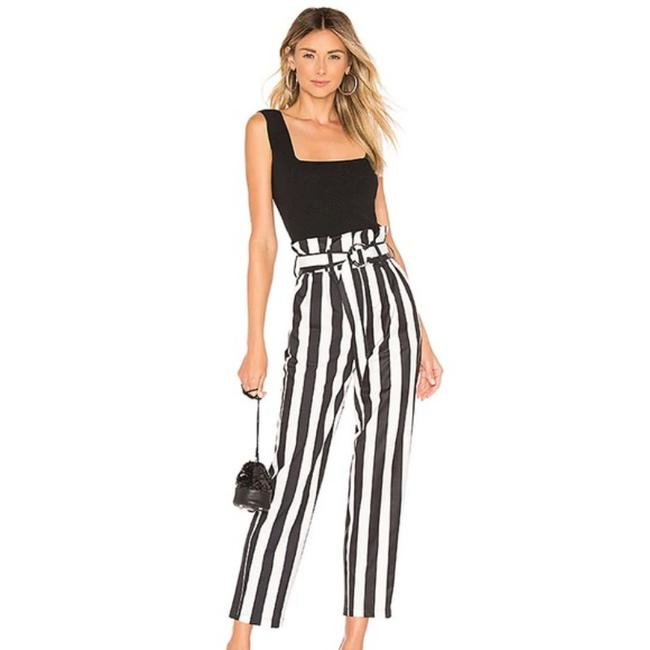 Item - Black Superdown Pippa Striped Belted Pants Size 6 (S, 28)