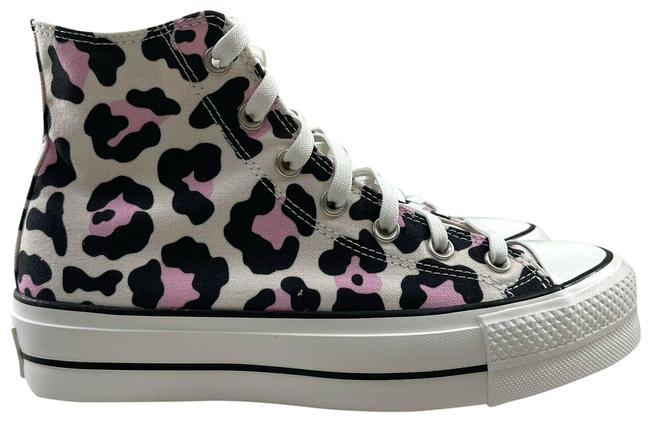 Item - Pink Black White Chuck Taylor All Star Leopard High Top Lace Up Sneakers Size US 8 Regular (M, B)