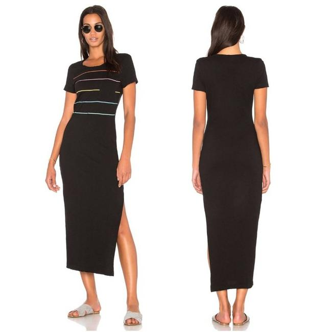 Item - Black Revolve Tennis Stripe T-shirt Casual Maxi Dress Size 8 (M)