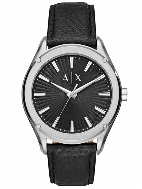 Item - Black Ax2803 Exchange Men's Dial and Leather Strap 44mm Watch