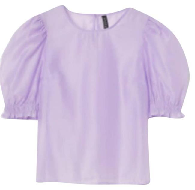 Item - Purple Lilac Puffed Sleeve Sm Blouse Size 6 (S)
