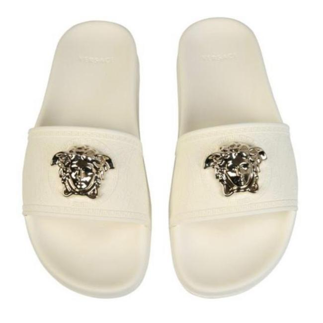 Item - Medusa Logo Rubber Pool Slides Sandals Size EU 41 (Approx. US 11) Regular (M, B)