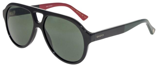 Item - Black Red Green 0159 Stripe Aviator Unisex Gg0159 Sunglasses