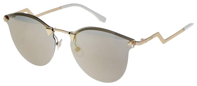 Item - Gold Iridia 0040 Crystal Rose Mirrored Metal Ff0040s Sunglasses