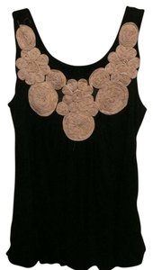 Kimchi Blue And Embroidered Bohemian Floral Flowers Chiffon Stitching Urban Outfitters Top Black/white