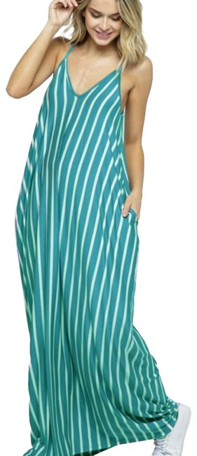 Item - Jade & White Long Casual Maxi Dress Size 6 (S)