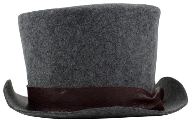 Item - Gray Felted Wool Top Size S Hat