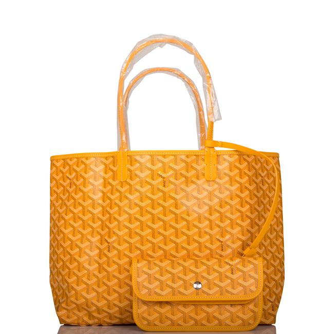 Item - Bag St. Louis Pm Silver Hardware Yellow Canvas Tote