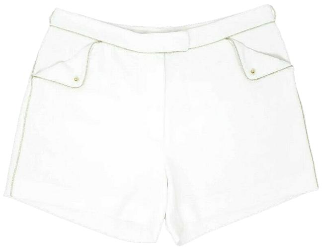 """Item - White Gold Womens Pockets 4"""" Inseam High Rise Shorts Size 6 (S, 28)"""