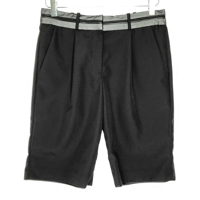 Item - Black Wool 0 High Rise Silver Waistband Shorts Size 0 (XS, 25)