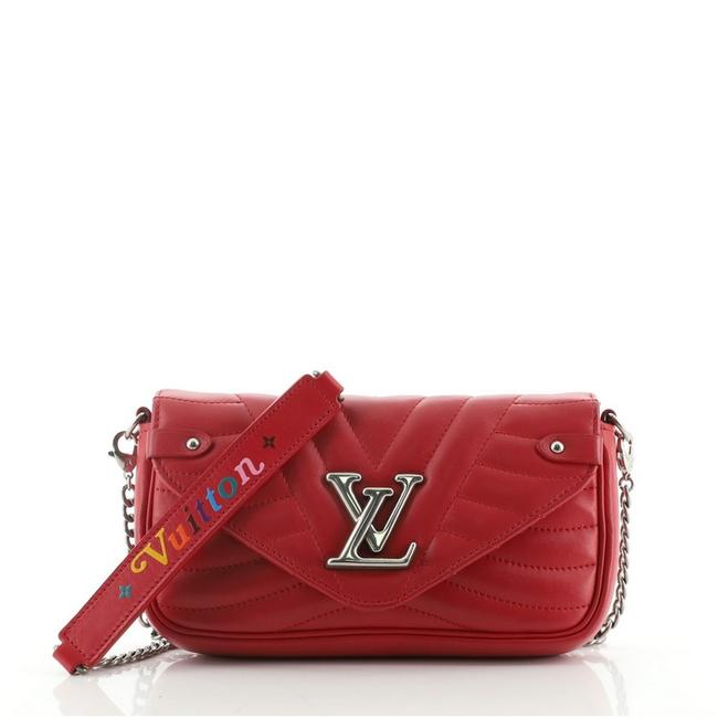 Item - New Wave Chain Quilted Red Leather Cross Body Bag