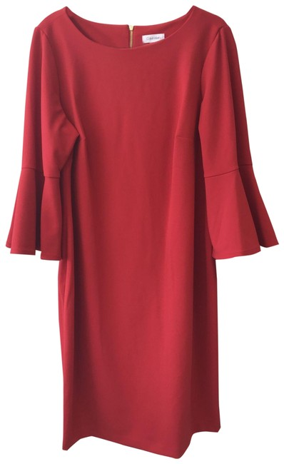 Item - Red Mid-length Work/Office Dress Size 16 (XL, Plus 0x)
