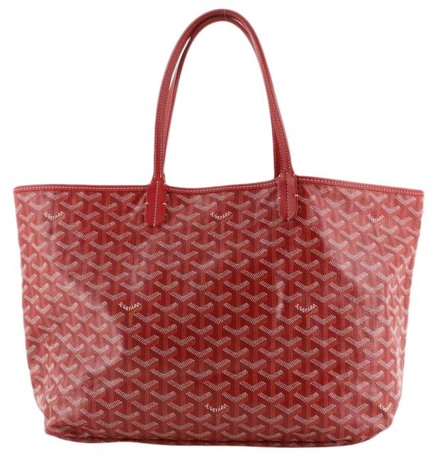 Item - Saint Louis Pm Red Coated Canvas Tote