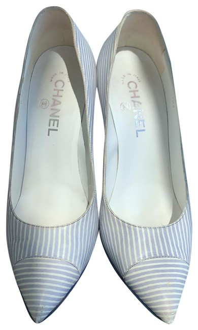 Item - Sky Blue with White Lines. Cruise Collection Pumps Size EU 39.5 (Approx. US 9.5) Regular (M, B)