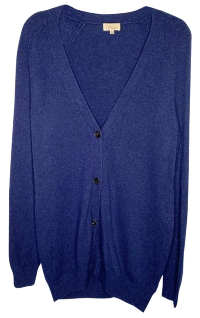 Item - Navy Button Front Cardigan Blue Sweater