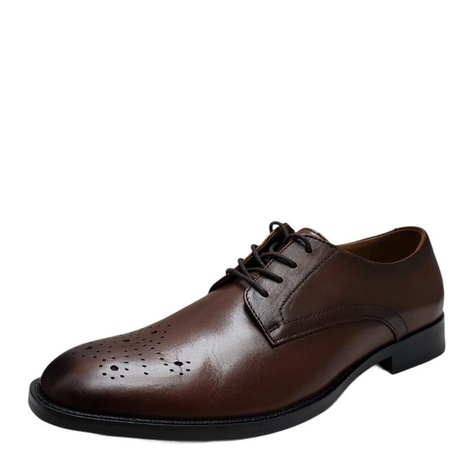 Item - Brown Men's Leather Darwin Lace-up Oxfords 8.5m Msrp 89.99 New Formal Shoes Size US 8.5 Regular (M, B)