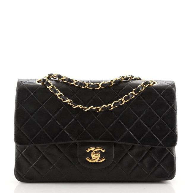 Item - Classic Flap Vintage Classic Double Quilted Lambskin Medium Black Leather Shoulder Bag