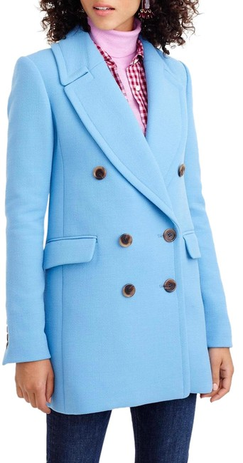 Item - Double Breasted Wool In Double Cloth Coat Size 10 (M)