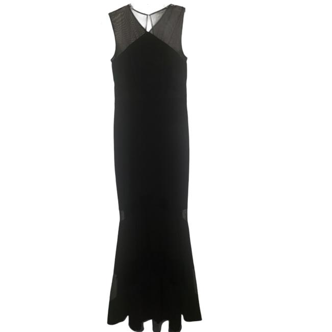 Item - Black Illusion Inset Mermaid Gown Long Formal Dress Size 6 (S)