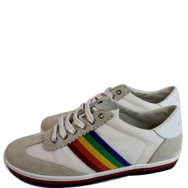 Item - White Suede Stripe Rainbow G74 Leather Sneakers Size US 5 Regular (M, B)