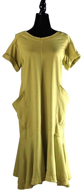 Item - Lime Joella Cotton New S Mid-length Short Casual Dress Size 6 (S)