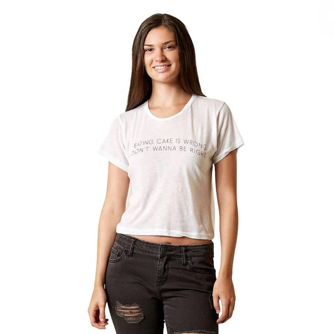 Item - White If Eating Cake Is Wrong T-shirt Tee Shirt Size 4 (S)