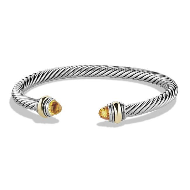 Item - Orange Yellow Silver Cable Classic with Citrine Gold Bracelet