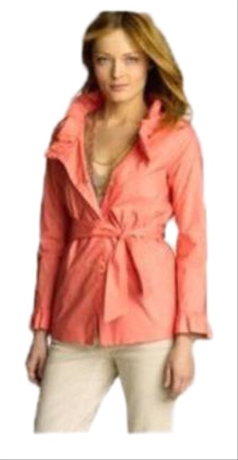 Item - Pink Frenchie Ruffled Slicker Belted Jacket Size 6 (S)