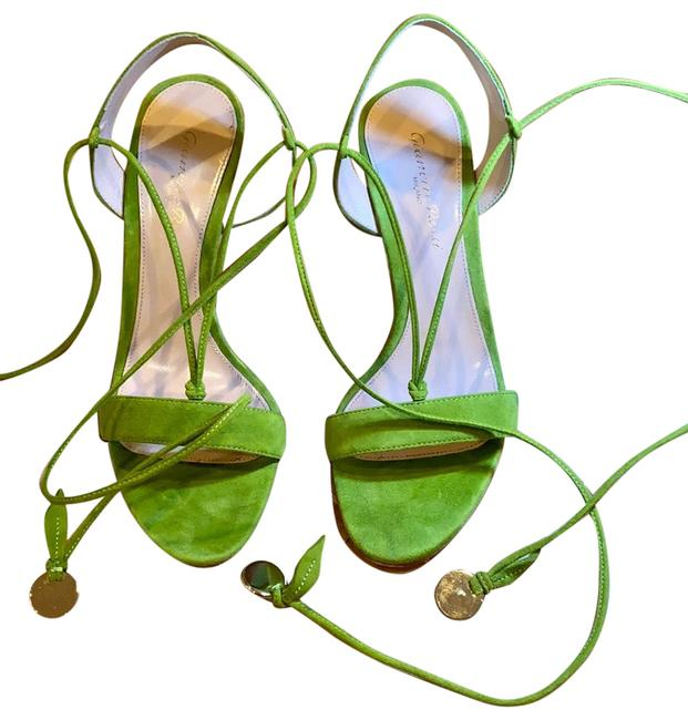 Item - Green Faboulos High Heels Sandals Rich Sexy Unique St Formal Shoes Size EU 37 (Approx. US 7) Regular (M, B)