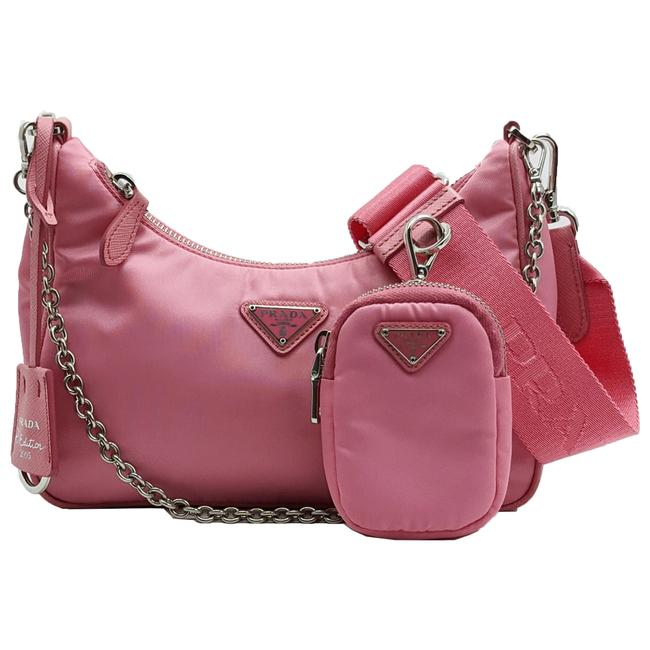 Item - Pochette Accessoires Reedition 2005 Multi Shoulder Pink Nylon Cross Body Bag