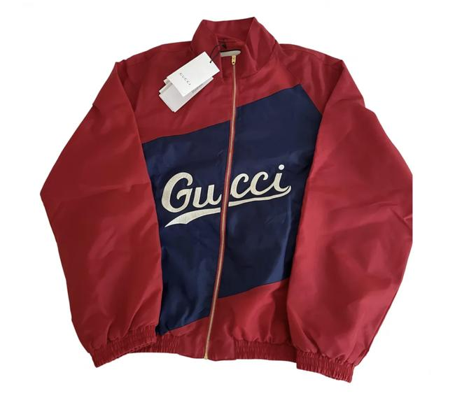 Item - Red Nylon with Script Jacket Size 8 (M)