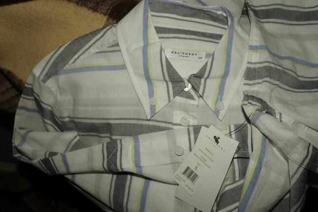 EQUIPTMENT Button Down Shirt White Multi Colored