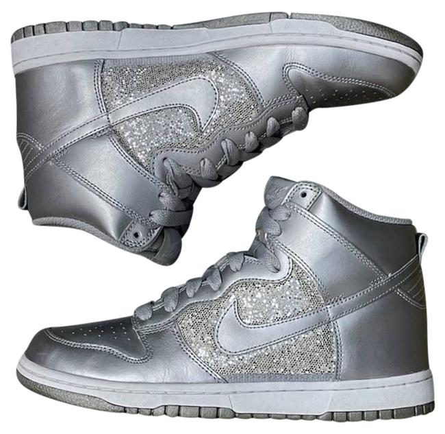 Item - Silver Dunk High Top Sparkle Womens Sneakers Size US 6.5 Regular (M, B)