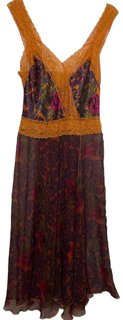Item - Long Nightgown Floral Multicolored Fits S-m Cover-up/Sarong Size 4 (S)