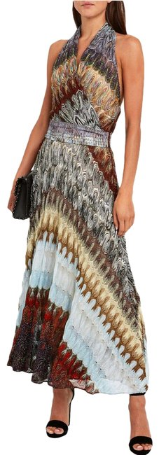 Item - Multicolor Long Night Out Dress Size 2 (XS)
