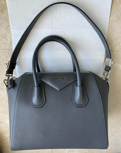 Item - Antigona Small Includes Dust Gray Leather Satchel