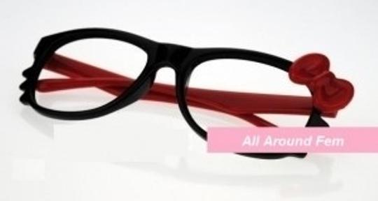 Hello Kitty Hello Kitty Black and Red Frame Plastic Nerd Hipst
