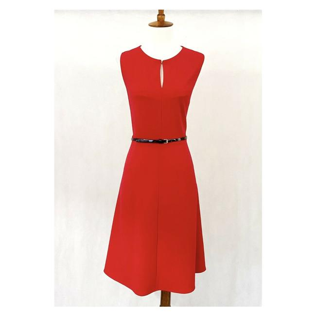 Item - Red Sleeveless Fit-flare Work/Office Dress Size 10 (M)