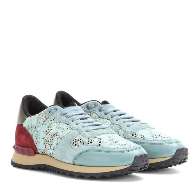 Item - Blue Red Rockrunner Lace Leather and Suede Sneakers Size EU 37 (Approx. US 7) Regular (M, B)