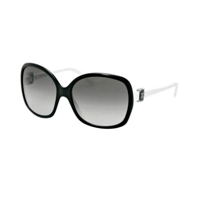 Item - Black On White Ch 5174 C.900/3c 58mm Oversized Butterfly Sunglasses