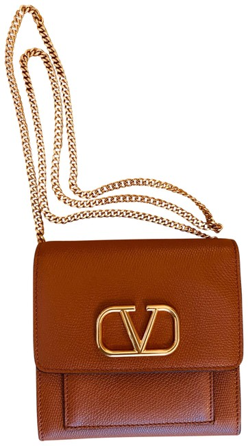 Item - Garavani Vlogo Tan Leather Cross Body Bag
