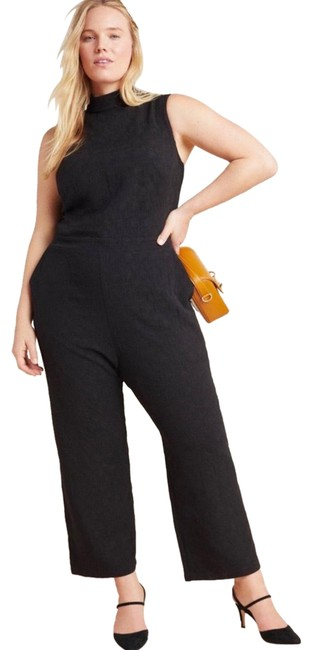 Item - Black Charley Mock Neck Romper Pants Size 12 (L, 32, 33)