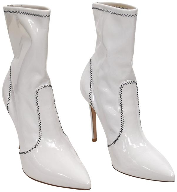 Item - White Pointed 7.5 Boots/Booties Size EU 37.5 (Approx. US 7.5) Regular (M, B)