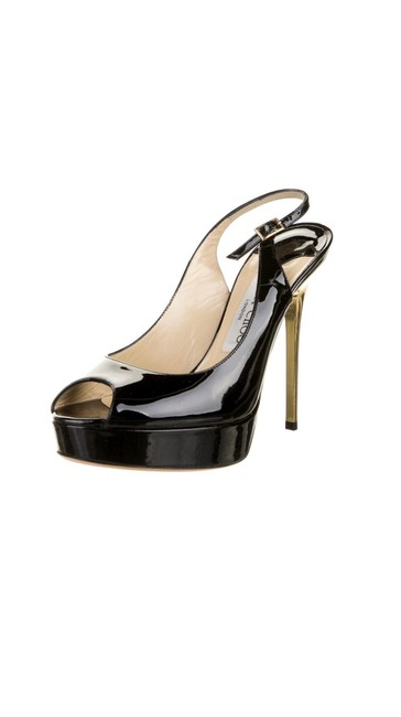Item - Black Patent Leather Slingback Pumps Size US 6.5 Regular (M, B)